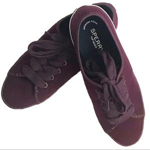 Sperry Pier view wool purple sneakers. 9.5. NWT